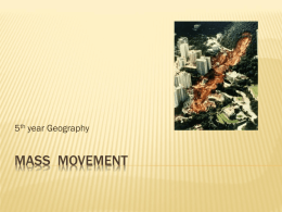 Mass Movement - Leaving Certificate Geography