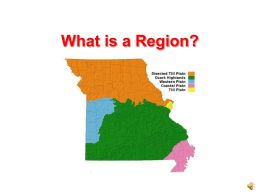 Regions of Missouri PowerPoint