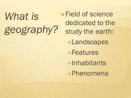 Geography PPT