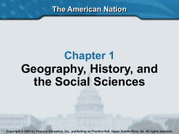 Geography, History, and the Social Sciences