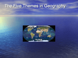 The Five Themes in Geography