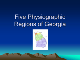 Five Physiographic Regions of Georgia 2nd Master 2010