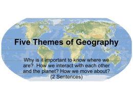 Five Themes of Geography - Colorado Springs School District 11