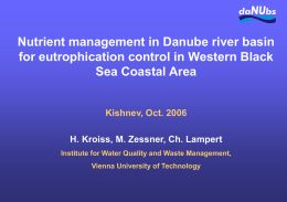 Nutrient management in Danube river basin for
