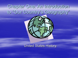 "Chapter One: An Introduction to ""Our Country`s"