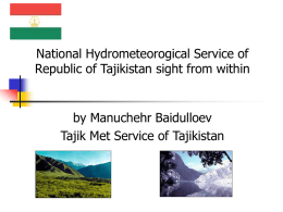 National Hydrometeorogical Service of Republic of Tajikistan sight