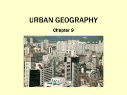 Urban Geography Full Color Power Point