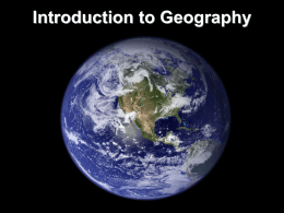 Geography Skills Powerpoint