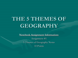 5 Themes of Geography - Davis School District
