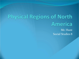 Physical Regions Power Point - Warren County Public Schools