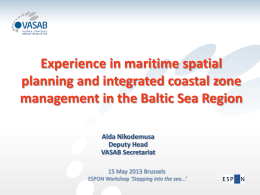 The transnational perspective - Experience in maritime
