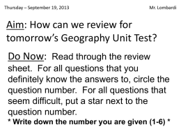 Geo09 - GeographyReview