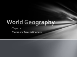World Geography - Field Local Schools