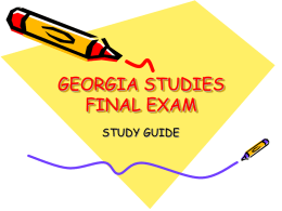 georgia studies final exam