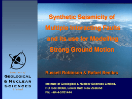 Synthetic Seismicity of Multiple Interacting Faults and its use for