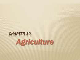 Agriculture - My Teacher Pages
