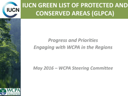 IUCN GREEN LIST OF PROTECTED AND CONSERVED AREAS