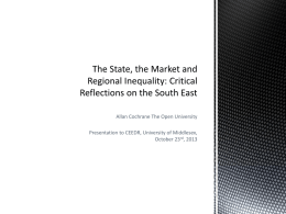 Critical Reflections on the South East