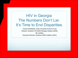 Georgia Slide Presentation on CDC Funding Issue