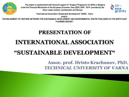 """International Association"" Sustainable Development"