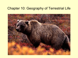 Chapter 10 - Geography of Terrestrial Life_AT SP16x