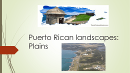 Puerto Rican landscapes: Plains