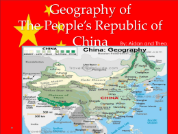 Geography of The People*s Republic of China