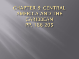 Chapter 8: central America and the Caribbean pp. 186-205