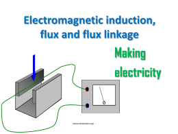 Electromagnetic induction, flux and flux linkage