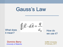 Mini-lecture on Gauss`s law