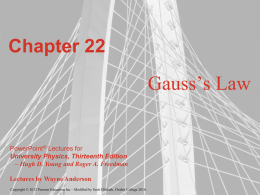Gauss` Law - Chabot College