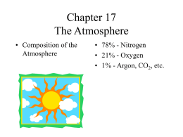 Chapter 17 The Atmosphere