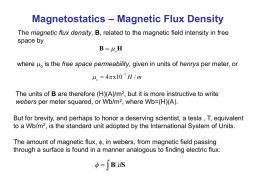Magnetostatics – Magnetic Flux Density