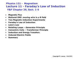 Lecture11: Faraday`s Law of Induction