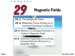The direction of the magnetic field B at any location