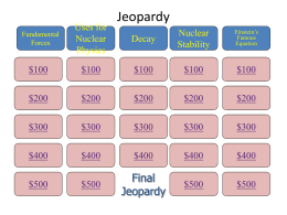 Modern Physics Jeopardy