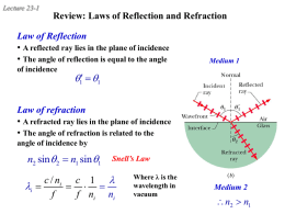 or refracted - Purdue Physics