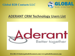 ADERANT CRM Technology Users List