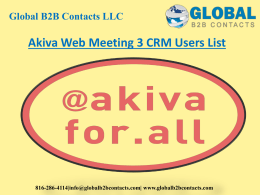 Akiva Web Meeting 3 CRM Users List