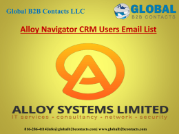 Alloy Navigator CRM Users Email List