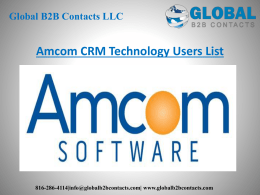 Amcom CRM Technology Users List