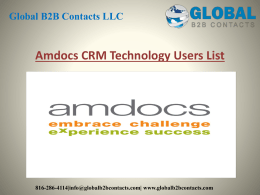 Amdocs CRM Technology Users List