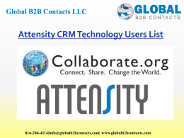 Attensity CRM Technology Users List