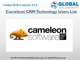Cameleon CRM Technology Users List