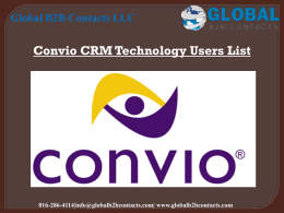 Convio CRM Technology Users List