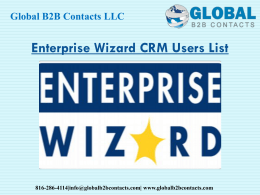 Enterprise Wizard CRM Users List