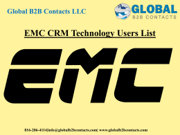 EMC CRM Technology Users List