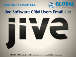 Jive Software CRM Users Email List