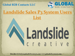 Landslide Sales P3 System Users List