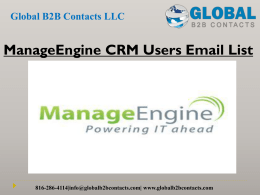 ManageEngine CRM Users Email List